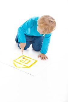 Free Child Draws Stock Images - 17688054