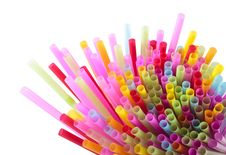 Free Colorful Of Straw Royalty Free Stock Image - 17688056