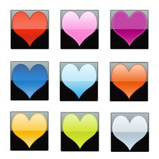 Free Shiny Hearts Stock Photography - 17688152