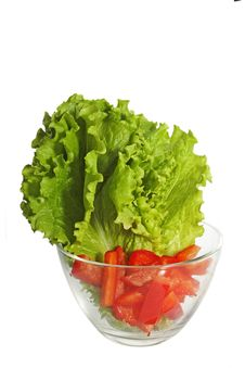 Free Lettuce And Sweet Red Peppers Royalty Free Stock Photography - 17688427