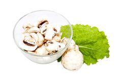 Mushrooms, Cut Into Chunks Royalty Free Stock Photo