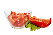 Free Sweet Red Pepper With Salad Royalty Free Stock Photo - 17688455