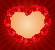 Free Red Rose Hearts Stock Image - 17688491