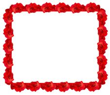 Free Red Rose Frame Royalty Free Stock Images - 17688509