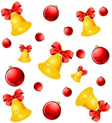 Christmas Background With Bells Stock Image