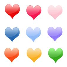 Free Shiny Hearts Royalty Free Stock Photos - 17688808