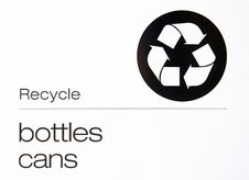 Free Recycle Bottles And Cans Sign Royalty Free Stock Photo - 17688925