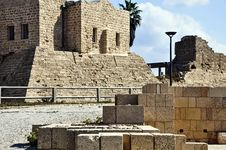 Free Caesarea Port Building Royalty Free Stock Photos - 17689028