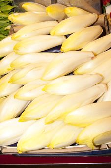 Free Endives At The Market Stock Image - 17689341