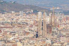 Free Sagrada Familia In A Cityscape Stock Images - 17689424