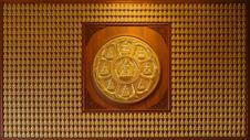 Free Golden Buddha Wall Royalty Free Stock Photo - 17689845