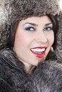 Free Beautiful Woman In A Fur Coat Royalty Free Stock Photo - 17697205