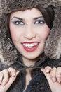 Free Beautiful Woman In A Fur Coat Stock Photography - 17697232
