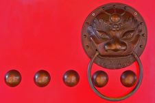 Chinese Lion Head Door Knocker