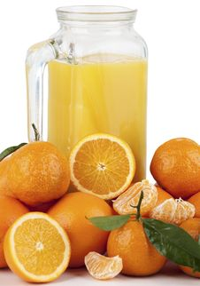 Free Orange Juice And Oranges Stock Photos - 17690463