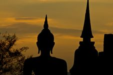 Free Silhouette Of Buddha Statue Stock Photo - 17690480