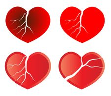 Free Broken Heart Royalty Free Stock Photos - 17691558