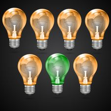 Electric Bulbs Stock Images