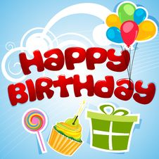 Free Happy Birthday Card Stock Photos - 17691783