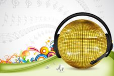 Free Discoball With Head Phone Stock Photography - 17691792