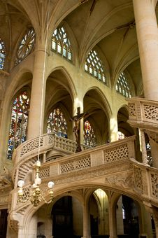 Free Interior Of Saint Etienne Church Stock Photo - 17692190