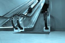 Free Blue Escalator Royalty Free Stock Photo - 17692425