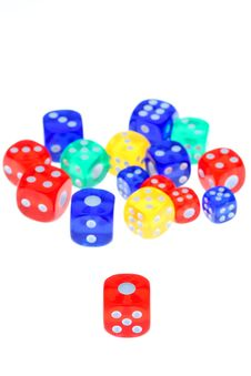 Free Colorful Dice Royalty Free Stock Photography - 17692987