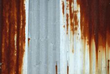 Free Rusty Corrugated Royalty Free Stock Image - 17693036