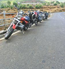 Free All Bikes On The Bridge_DxO Stock Image - 17693251