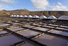 Free Salt Refinery, Saline From Janubio, Lanzarote Royalty Free Stock Image - 17693296