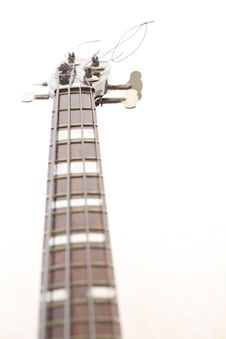 Free Bass Guitar Isolated On White Stock Photo - 17693380