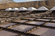 Free Salt Refinery, Saline From Janubio, Lanzarote Stock Images - 17693414