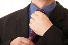 Free Businessman Adjusting His Tie Stock Photo - 17693430