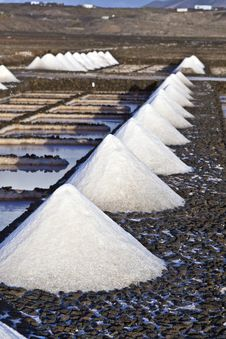 Free Salt Refinery, Saline From Janubio, Lanzarote Royalty Free Stock Photography - 17693527