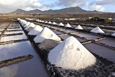 Free Salt Refinery, Saline From Janubio, Lanzarote Royalty Free Stock Photos - 17693538