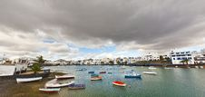 View Of Maritm Ride From Arrecife, Lanzarote Royalty Free Stock Photos