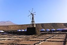 Free Salt Refinery, Saline From Janubio, Lanzarote Royalty Free Stock Photography - 17693937