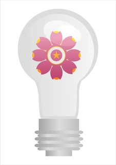 Free Eco Lamp With Flower Stock Image - 17693941
