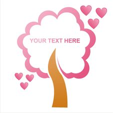 Free St. Valentine S Day Tree Frame Royalty Free Stock Images - 17693949