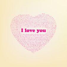 Free I Love You In Different Languages. EPS 8 Royalty Free Stock Photos - 17693998