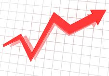 Free Financial Graph Royalty Free Stock Photo - 17694015