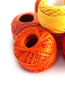 Free Colored Spools Royalty Free Stock Image - 17694256