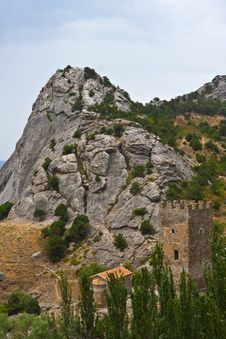 Genoese Medieval Fortress Royalty Free Stock Images