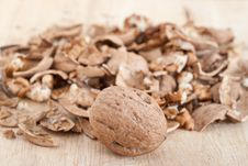 Free Cracked Walnuts Stock Photography - 17694562