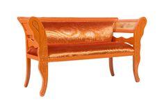 Free Orange Modern Couch Stock Image - 17695191