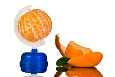 Free Globe From Peeled Tangerine And Peel Stock Photos - 17695593