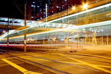Free Traffic Though Downtown Of Hong Kong. Stock Photo - 17696640