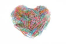 Free Paper Clip Heart Stock Images - 17696954
