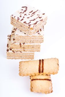 Free Sweet Cookies And Waffles Stock Photo - 17698250