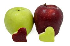 Free Fresh Red And Green Apple Stock Image - 17698301